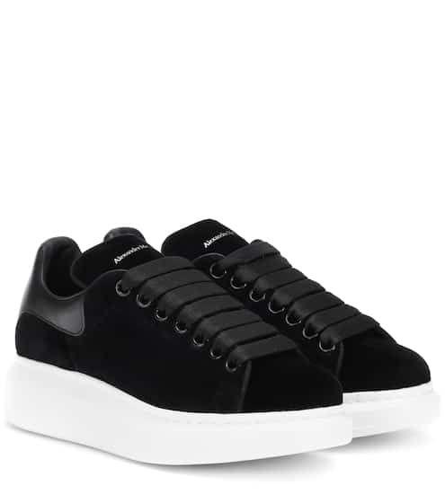 Suede Sneakers Alexander Mcqueen Velvet Sneakers Mcqueen Sneakers Alexander Mcqueen Sneakers
