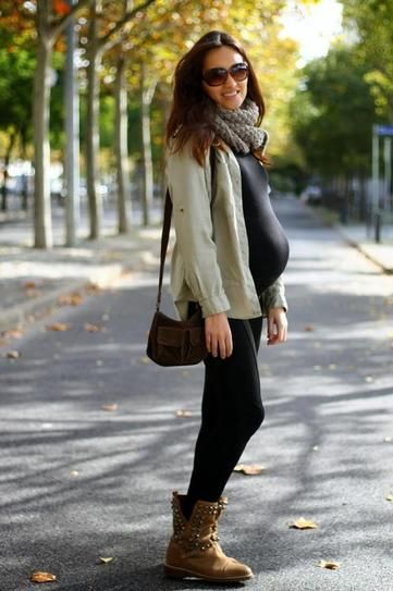Pregnant Street Style: 35 Cool Maternity Outfit Ideas | StyleCaster#_a5y_p=1588195#_a5y_p=1588195