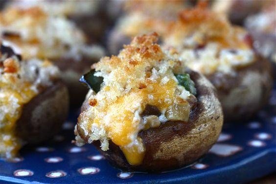 Jalapeño Bacon Stuffed Mushrooms