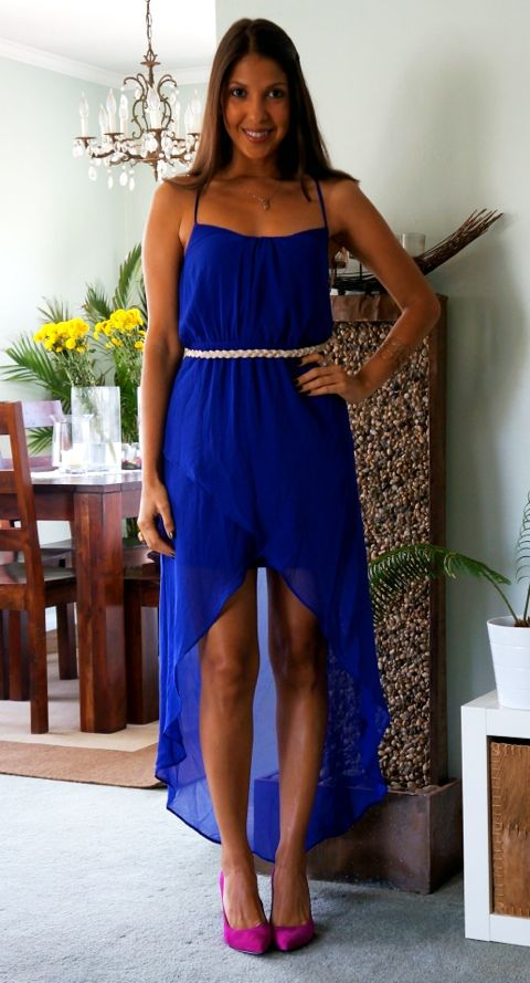 Wedding outfit: pink shoes with my cobalt blue dress?  My Style ...
