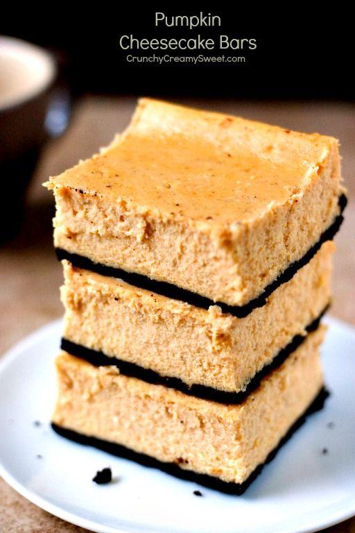 Pumpkin cheesecake bars, Pumpkin cheesecake and Cheesecake bars on ...