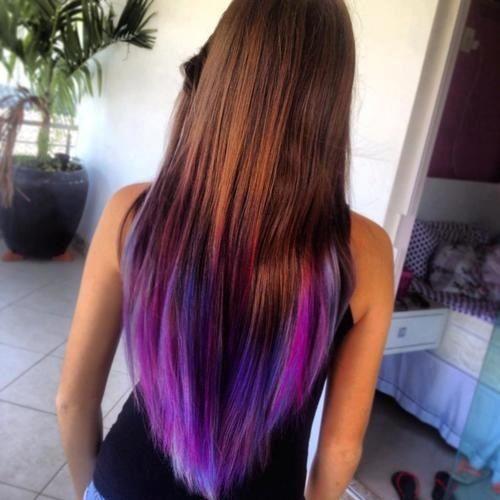 purple tips on light brown hair wwwimgkidcom the