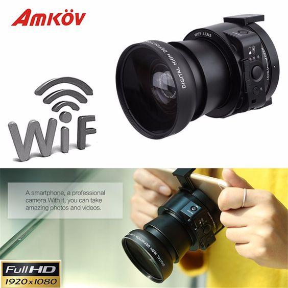 $134.75 (Buy here: http://appdeal.ru/dqtc ) AMKOV AMK OX5 Mini Selfie Lens-style Wifi Digital Camera Camcorder Full HD 1080P 20MP 4X digital 5X Optical Zoom PC Camera for just $134.75