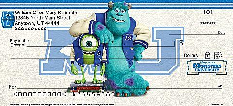 Monsters University Personal Checks