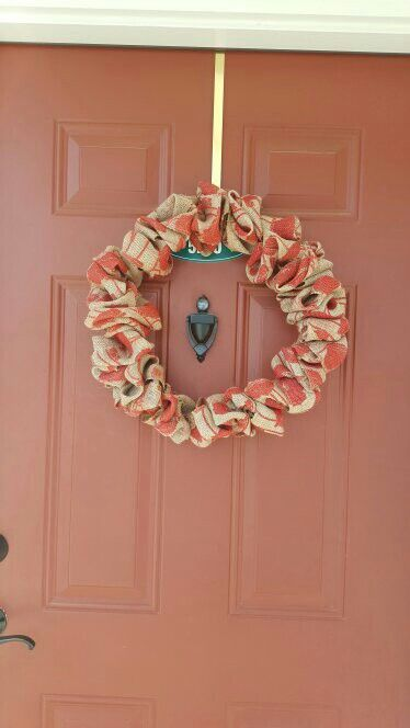 My Easy Burlap Wreath: