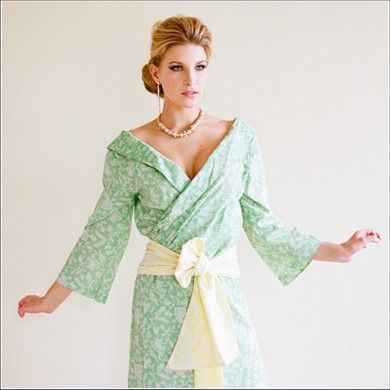 Sophisticated Kimono Style Robes for spa showers, parties, and gifts