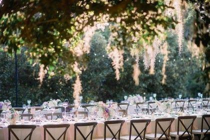 Sweetgrass Social wedding at Legare Waring House. Amanda & Matt. Table scape and oak tree.