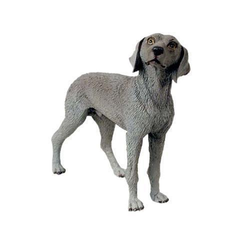 WEIMARANER dog HAND PAINTED FIGURINE Resin Statue COLLECTIBLE Weimeraner puppy