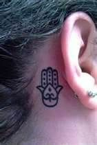 very simple hamsa- but on the side of my foot
