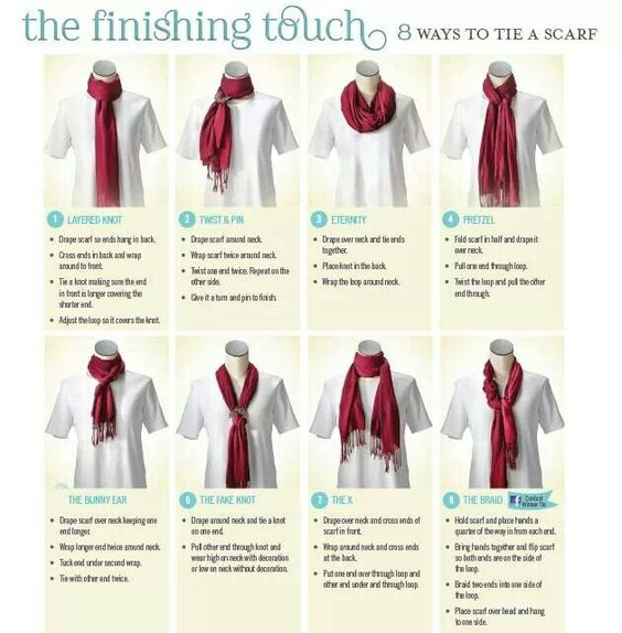 scarfs tying scarfs and for the on