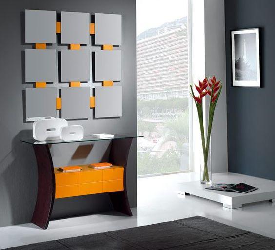Descubre los mejores recibidores modernos ideas para - Muebles hall modernos ...