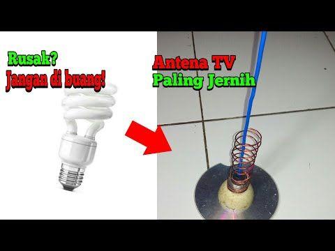 Kreatif Buat Antena Tv Paling Jernih Dari Lampu Rusak Youtube Tv Pale Brushing Teeth