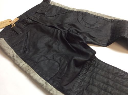 Denim-amp-Supply-Ralph-Lauren-Men-Leatherlike-Waxed-Oilcloth-Slim-Moto-Biker-Jeans