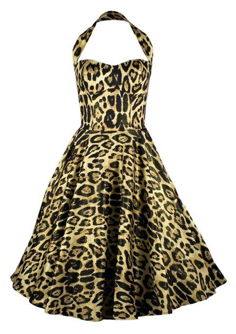50s Swing Dress - Leopard