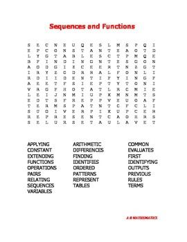 Worksheets Word Puzzle With Mathematical Term word search the words and on pinterest sequences functions 25 math terms to find in this puzzle