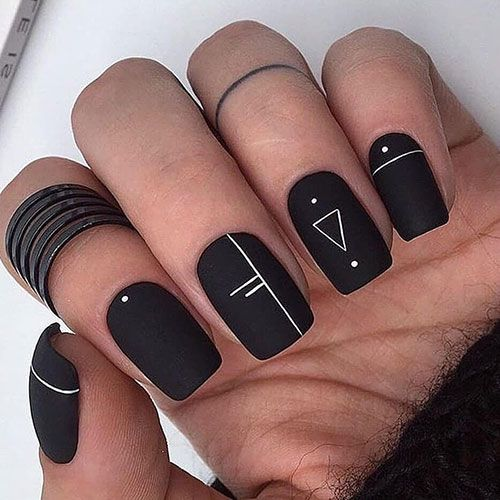59 Best Matte Nail Designs Colors Ideas 2020 Guide In 2020 Black Shellac Nails Black Nail Designs Black Acrylic Nail Designs