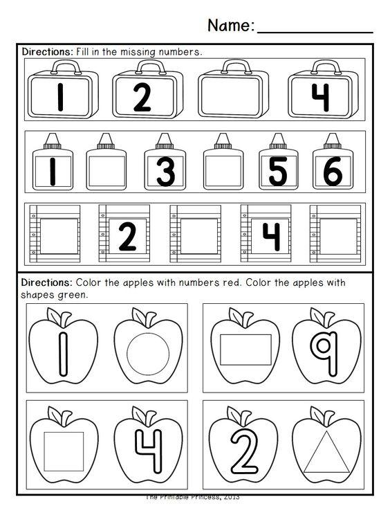 Kindergarten Morning Work: September | Pinterest | Math ...