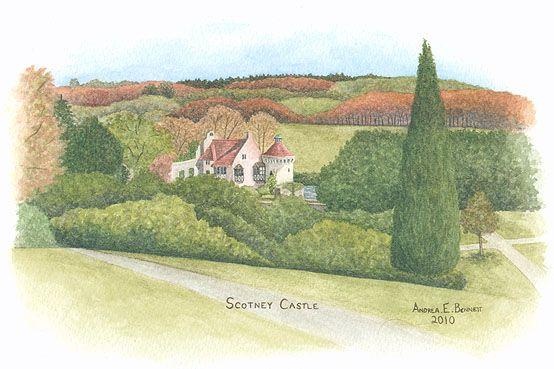 """""""Scotney Castle"""" by Andrea E. Bennett (2010)"""