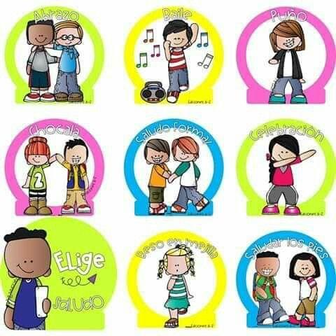 Elige Tu Saludo Formas De Saludar Carteles De Saludos Salones De Preescolar
