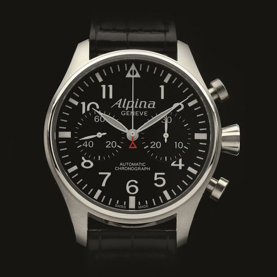 alpina startimer pilot automatic chronograph ref al 860b4s6 swiss professional pilot watch. Black Bedroom Furniture Sets. Home Design Ideas