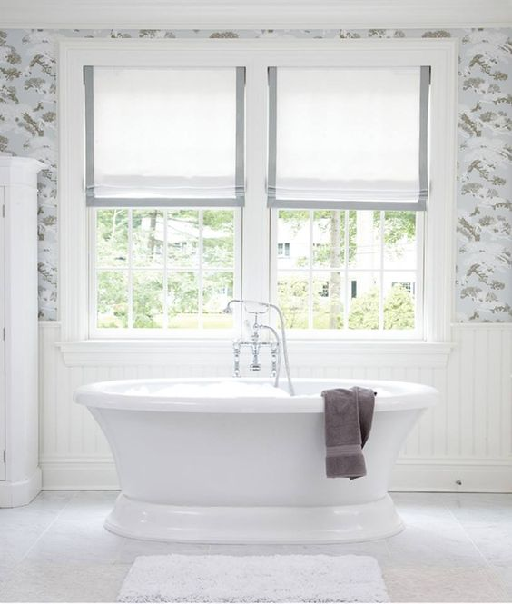 Create A Relaxed Look With Soft Roman Shades Bathrooms Pinterest Eyebr
