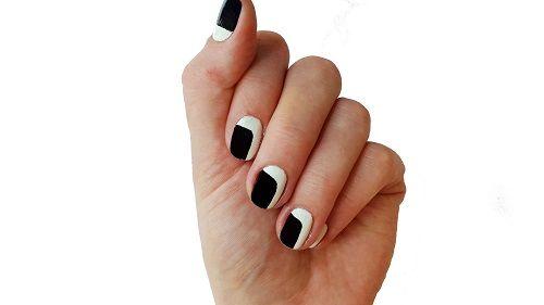 French Nail Polish طلاء أظافر فرنسي Black And White Nail Art Ombre Nail Designs New Nail Art Design
