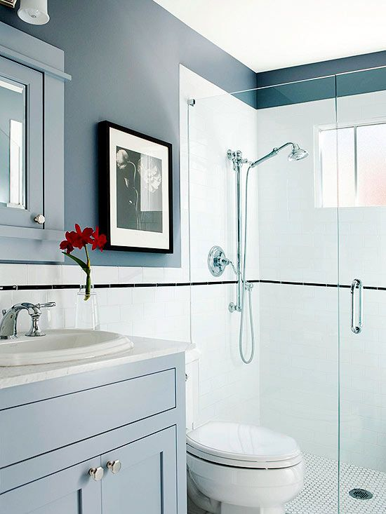 Low Cost Bathroom Updates Glasses Shower Surround And