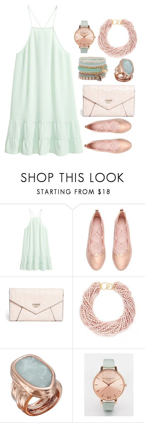 """Candy Colors"" by alynncameron ❤ liked on Polyvore featuring GUESS, Kenneth Jay Lane, Vince Camuto, Olivia Burton and ALDO"