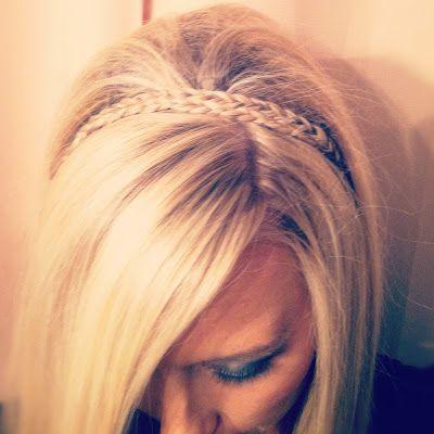 braided headband.