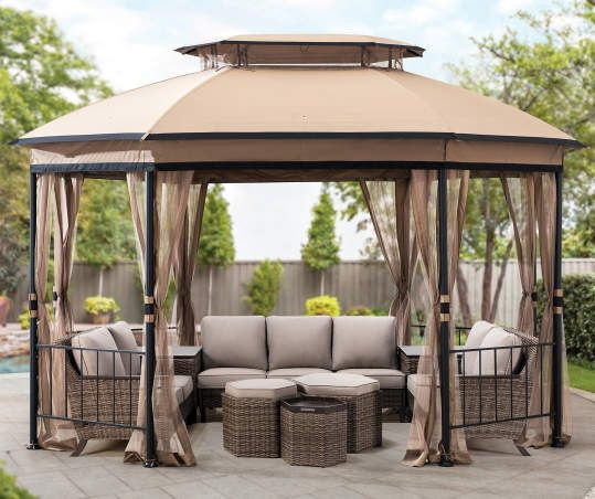 Real Living Jefferies Gazebo 10 X 12 Big Lots Gazebo Backyard Gazebo Patio