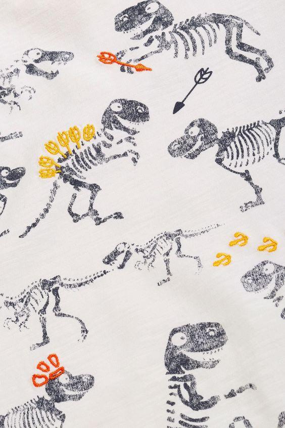 Buy Ecru Dino Print T-Shirt (3mths-6yrs) from the Next UK online shop
