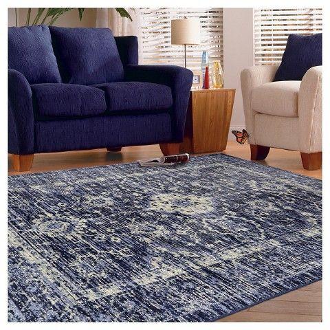vintage distressed area rug the industrial shop indigo. rug zebra print ...