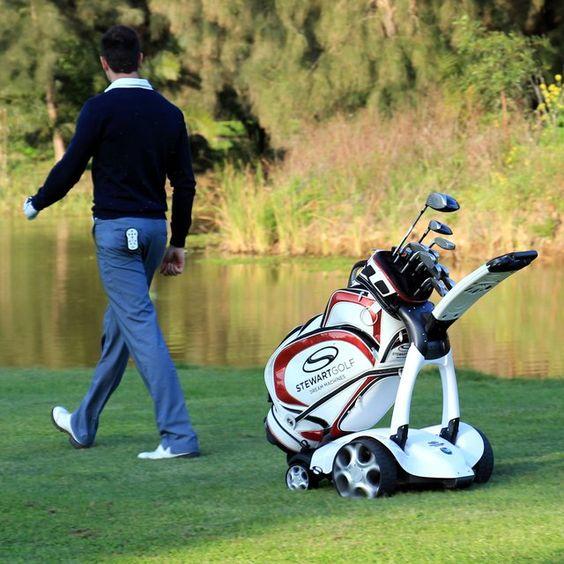 Automatic Following Golf Trolley #Automatic, #Golf, #Ingenious, #Technology