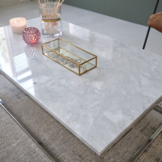 Table Basse Rectangulaire En Marbre Blanc Et Metal 120 Mobilier De Salon Bdbd En 2020 Table Basse Rectangulaire Table Basse Table Basse Marbre Blanc