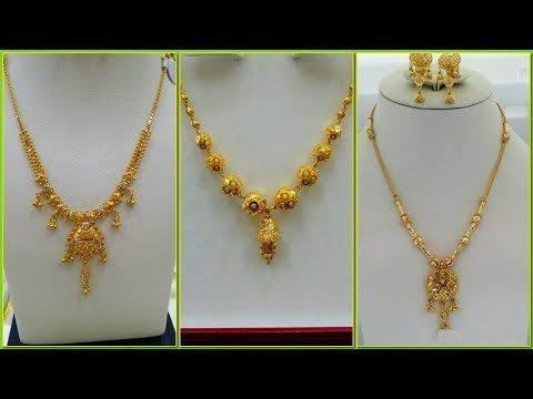 Gold Necklace Designs In 10 Grams In 2020 Gold Necklace Designs Light Weight Gold Jewellery Beautiful Gold Necklaces