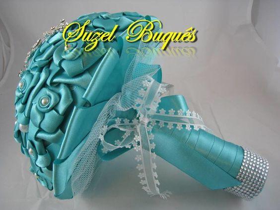 Buquê de Noiva Azul Tiffany