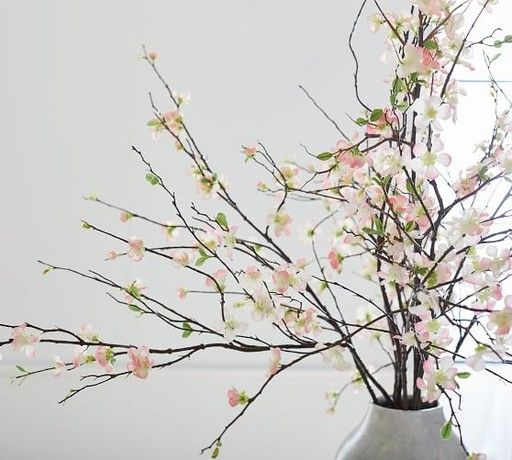 How To Brighten Up Those Gray Walls Linda Merrill Cherry Blossom Branch Artificial Flowers And Plants Sakura Cherry Blossom