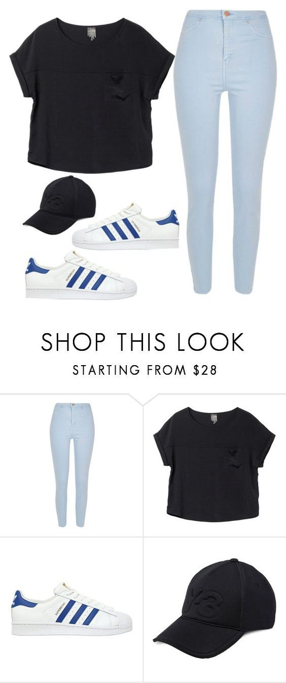 """""""Untitled #666"""" by lelephant ❤ liked on Polyvore featuring River Island, Monki, adidas Originals and Y-3"""