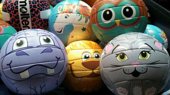 Molten's mini animal volleyballs...too cute!