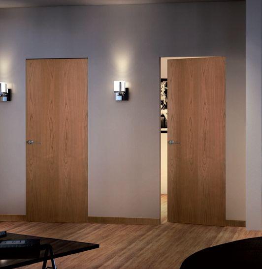 Puertas lisas enrasadas a pared filo muro sin for Puerta de madera con marco