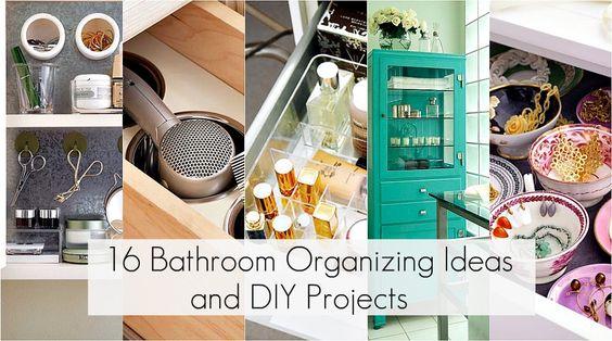16 Bathroom Organizing Ideas & DIY Projects