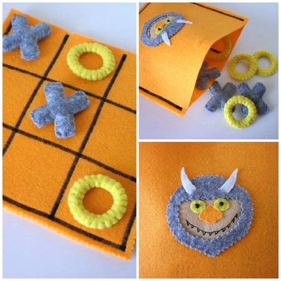 Where The Wild Things Are Tic Tac Toe Game Set  - Kids Birthday Present.