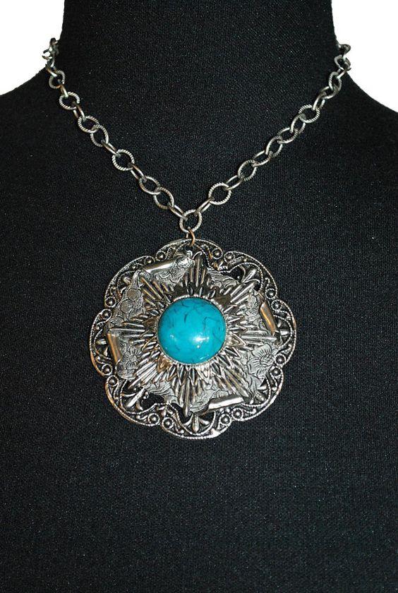 Turquoise pendant.  redangora on etsy