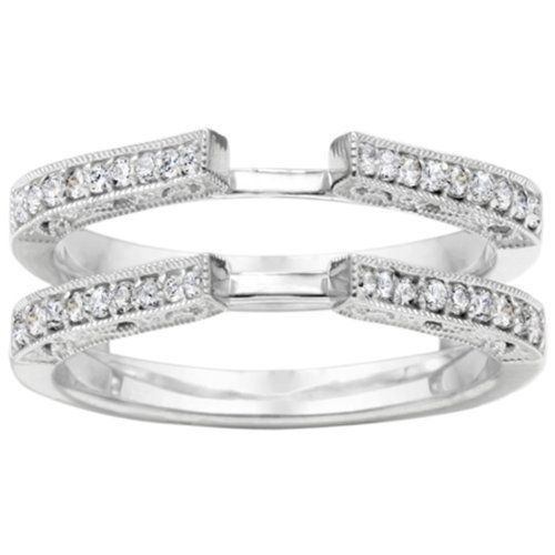 Wedding Ring Enhancer Wrap Diamonds, put your engagement ring in the middle to enhance it. LOVE!