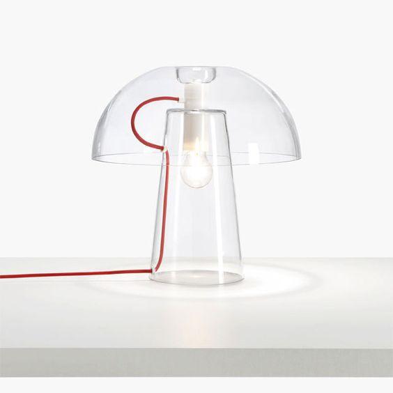 Tisch-Lampe / originelles Design / für Innenbereich / geblasenes Glas - CHANTAL by Stephen Burks - CINNA