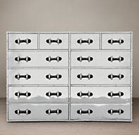 TRANS–ATLANTIC STEAMER TRUNK-12 DRAWER CHEST