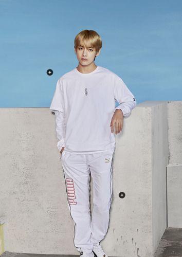 BTS_PUMA] BTS Collection Short Sleeved T Shirt Black,White
