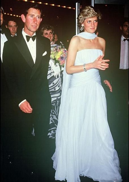 May 15, 1987: Prince Charles & Princess Diana at Cannes Film Festival: They attend a gala dinner in honour of actor Sir Alec Guinness.