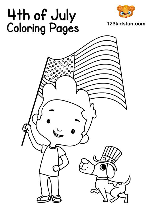 4th Of July Coloring Pages For Kids 123 Kids Fun Apps Coloring Pages For Kids Coloring Pages Flag Coloring Pages