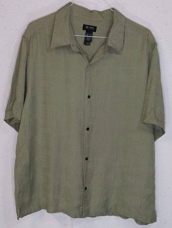 Olive Green Button Down Shirt Mens